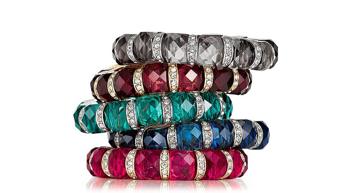 Jewel Tone Stretch Bracelet