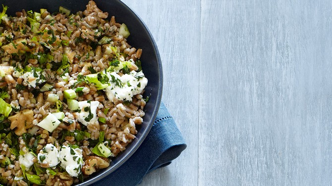 Farro with Goat Cheese