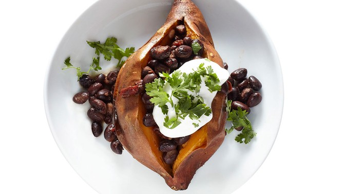 Chipotle Bean–Stuffed Roasted Sweet Potatoes