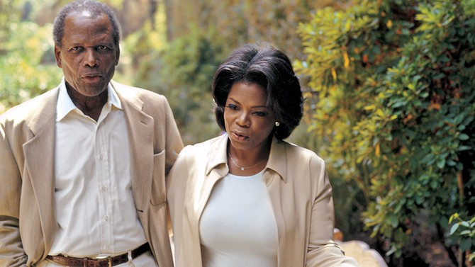 Oprah and Sidney Poitier