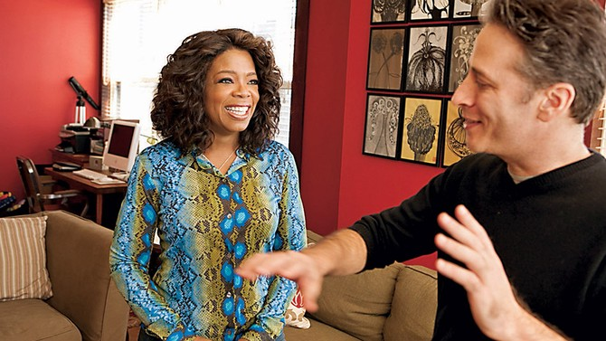 Jon Stewart and Oprah