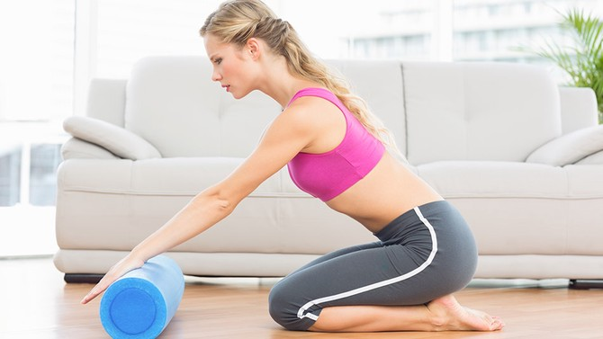 foam rolling after workout