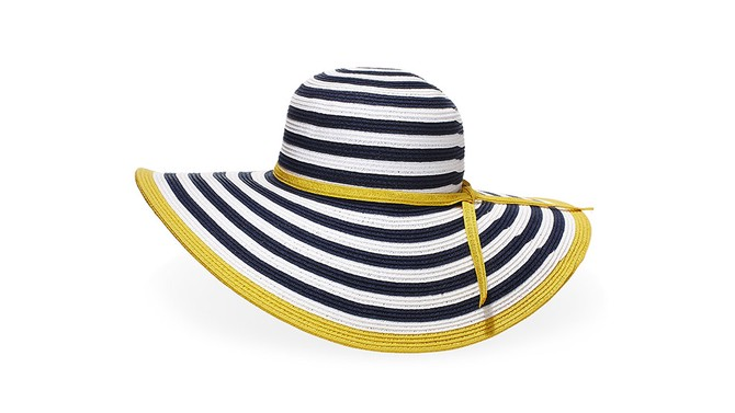 Striped beach hat
