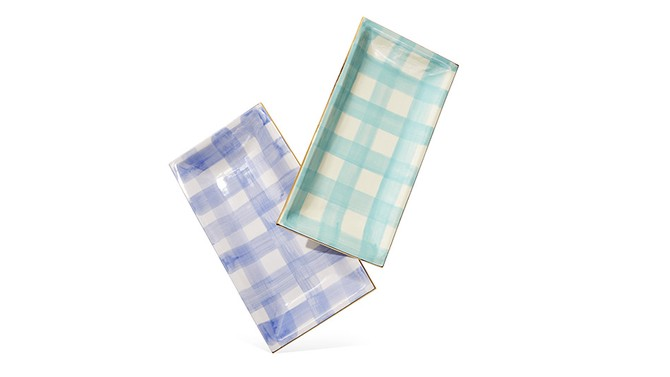 Jill Rosenwald Brooks Plaid Trays