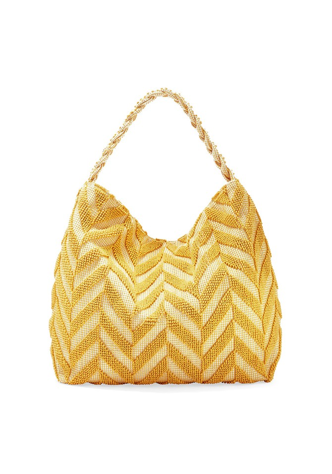 Yellow Patterened Purse