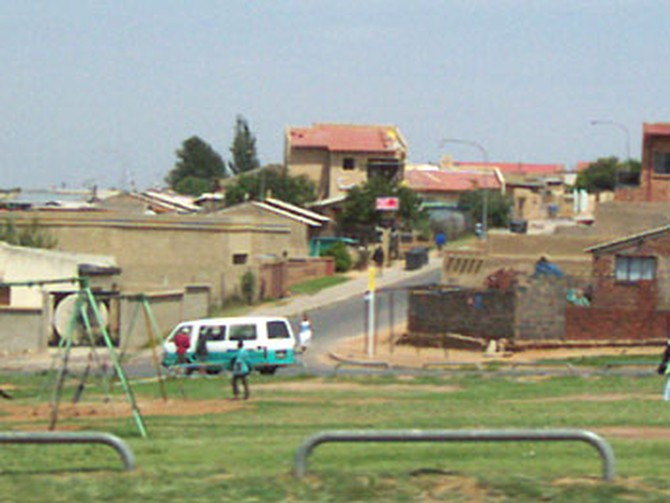 A playground outside of Soweto