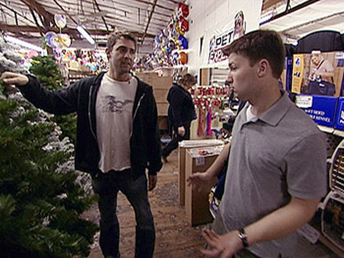 Eric and Cameron shop for the Forgotten Christmas