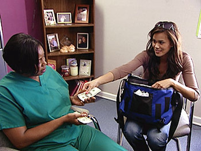 'Oprah's Big Give' contestant Brandi with Dorothy