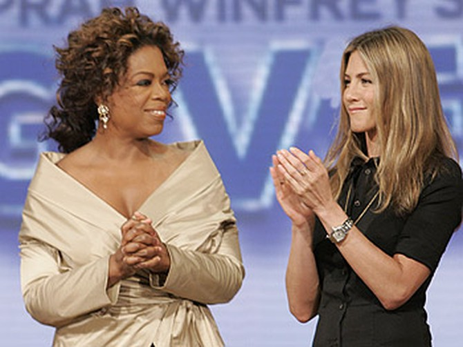 Jennifer Aniston on Oprah's Big Give
