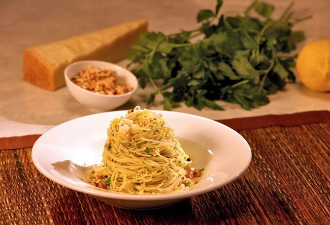 Lemon-Infused Angel Hair Pasta