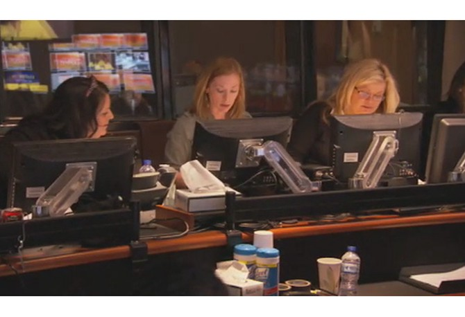 Leslie and Sheri in control room
