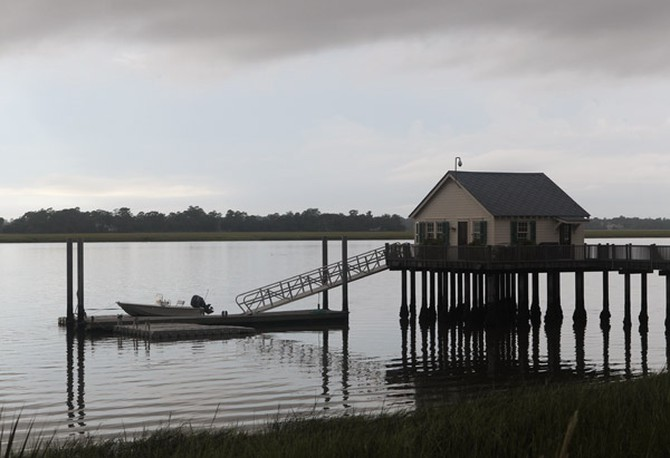 Dock near Paula Deen's home