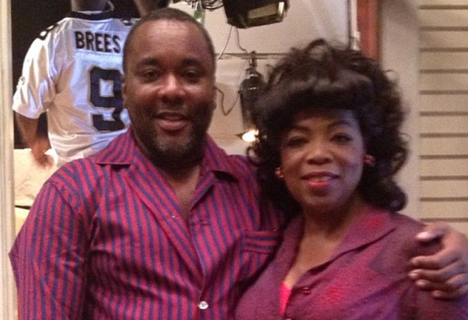 "Lee Daniels and Oprah Winfrey on set of ""Lee Daniels' The Butler"""