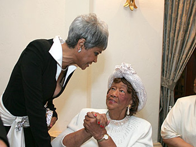 Nancy Wilson and Dorothy Height. Copyright 2005, Harpo Productions, Inc./George Burns & Bob Davis.