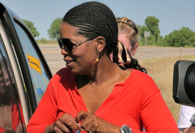 Oprah's hair on the road trip