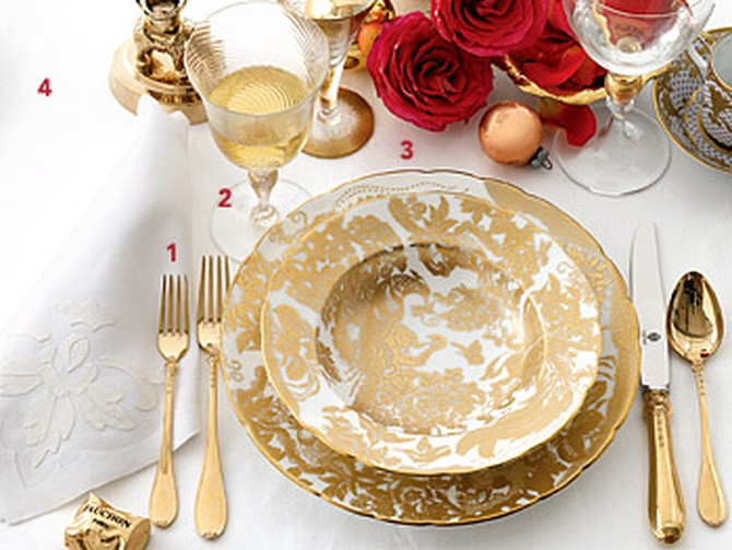 Metallic Mix table setting