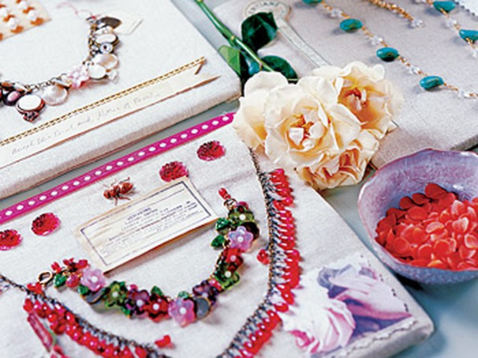 Vintage jewelry and craft kits.