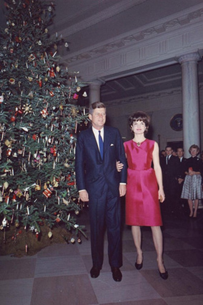 President and Mrs. Kennedy at the White House
