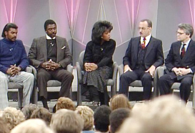 Oprah, Herbert and Cleveland Newell, Dale Parks and Tim Stoen