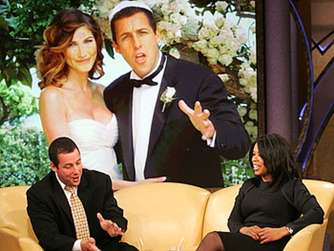 The newly married Adam Sandler