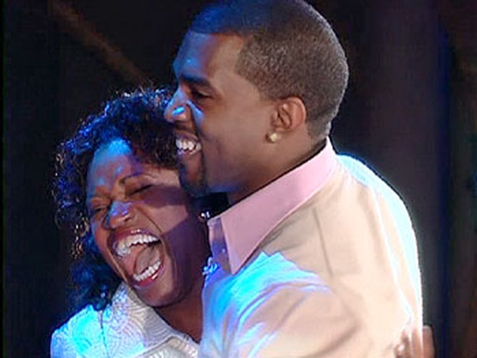 Kanye and his mother, Donda West