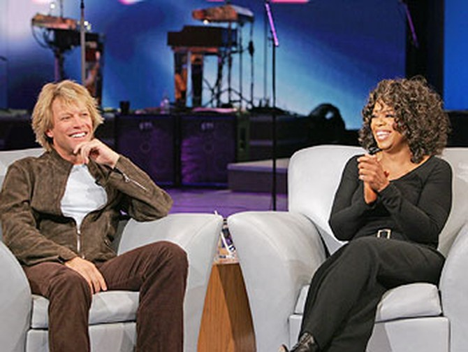 Jon Bon Jovi and Oprah