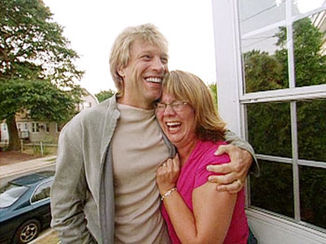 Jon surprises Beth, one of his most fanatical fans.