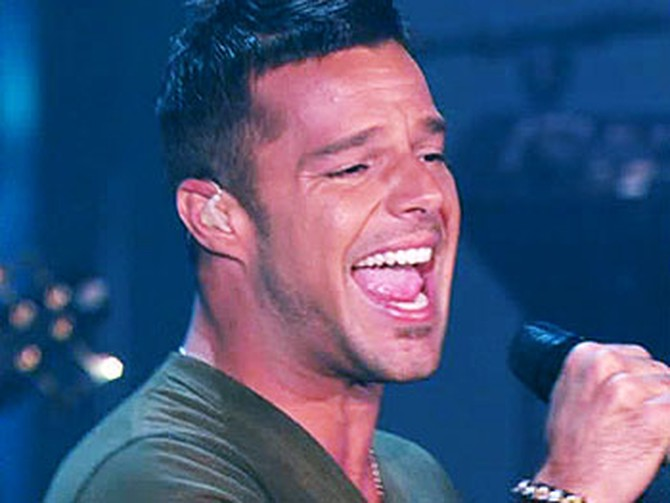 Ricky Martin performs 'I Don't Care.'
