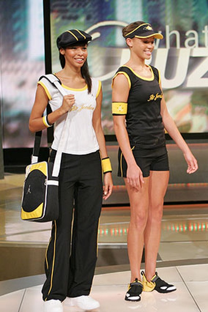 Black and yellow fashions from the Jordan Women's Collection