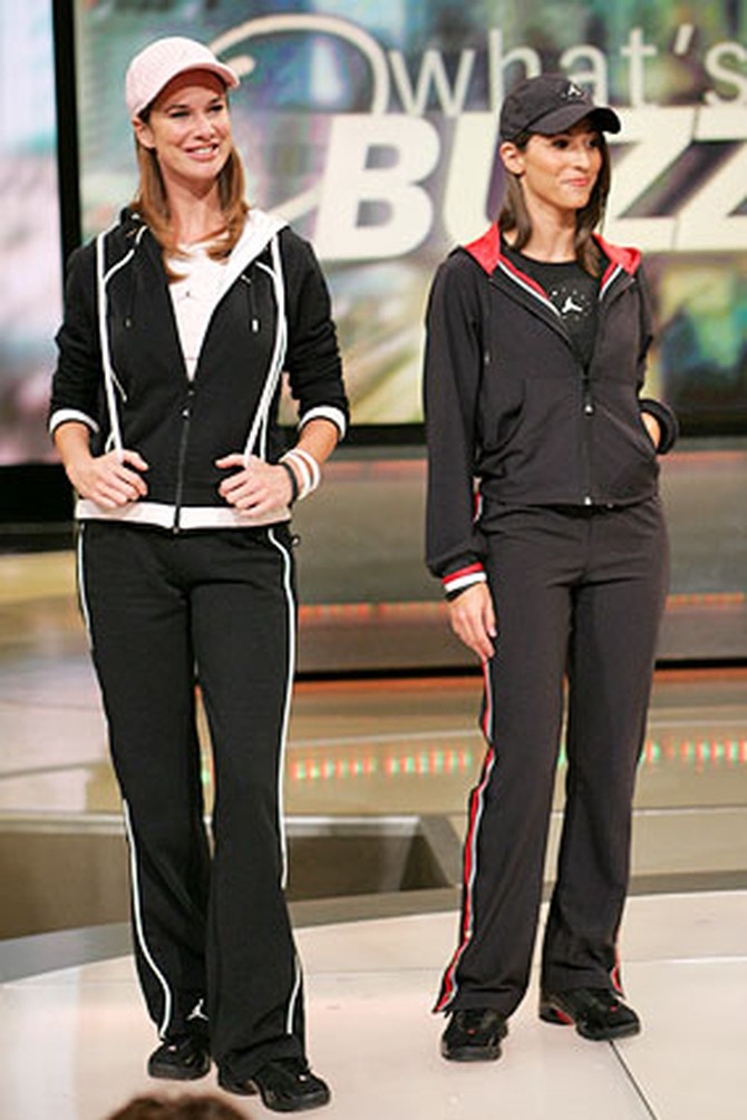 Red and black fashions from the Jordan Women's Collection