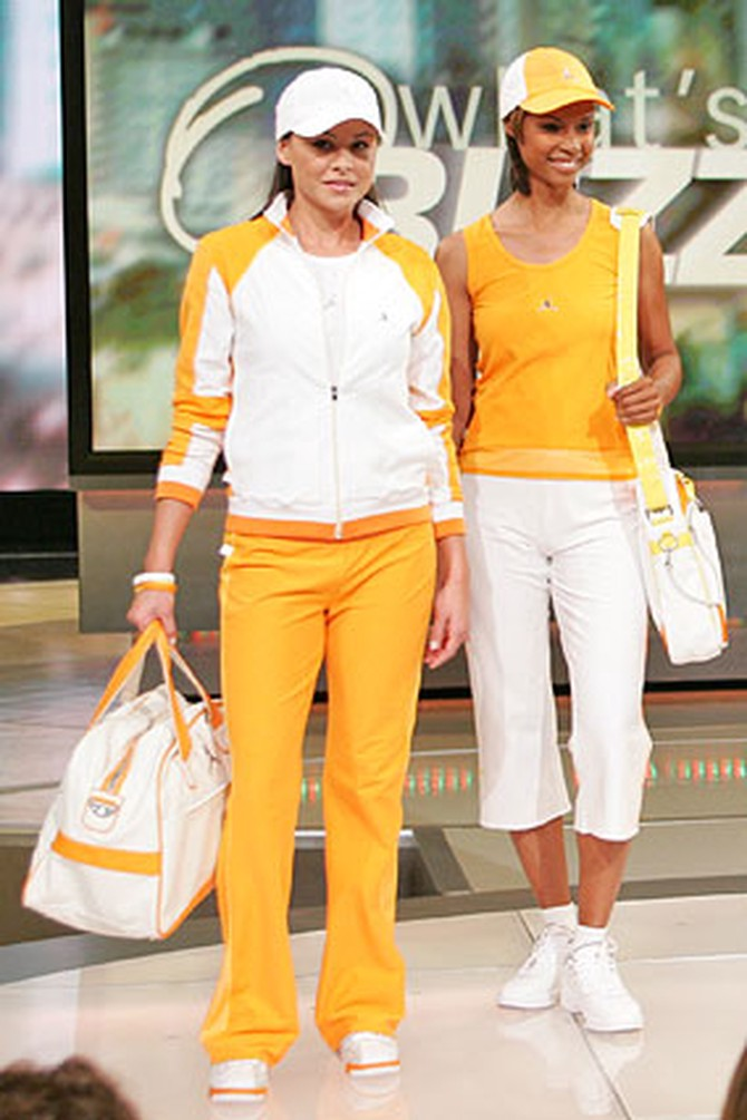 Orange and white fashions from the Jordan Women's Collection