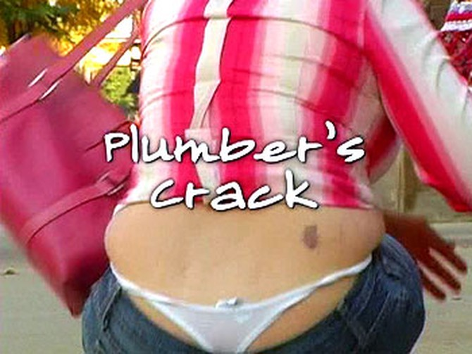 Woman with plumber's crack