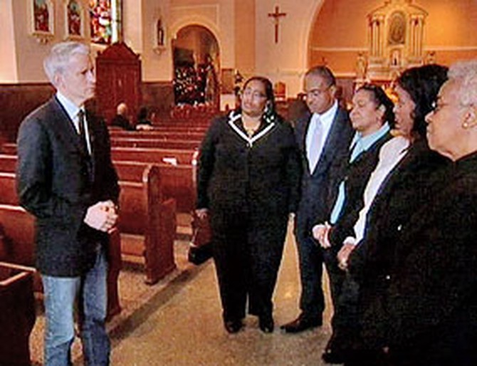 Anderson Cooper and the Herbert family