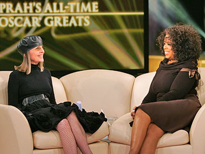 Diane Keaton and Oprah