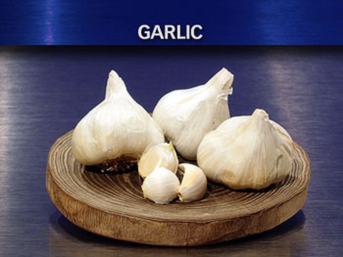 Dr. Oz says garlic is great.