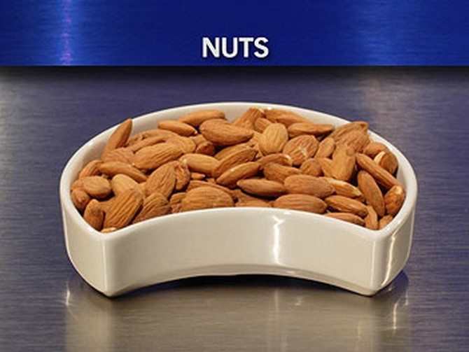 Dr. Oz recommends raw nuts.