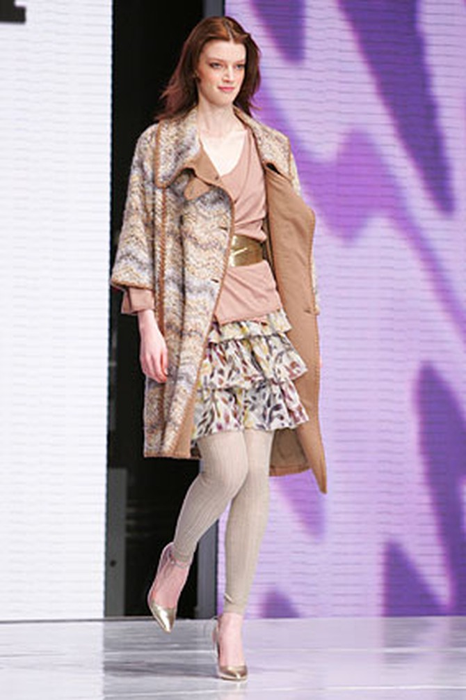 A coat and organza skirt by Missoni