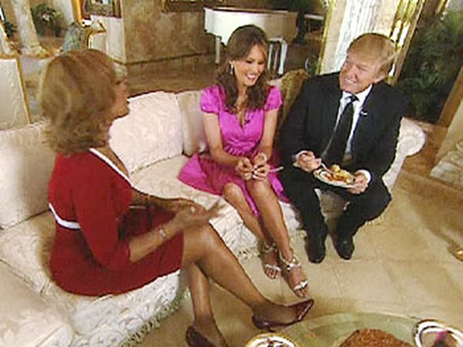 Gayle with Donald and Melania Trump