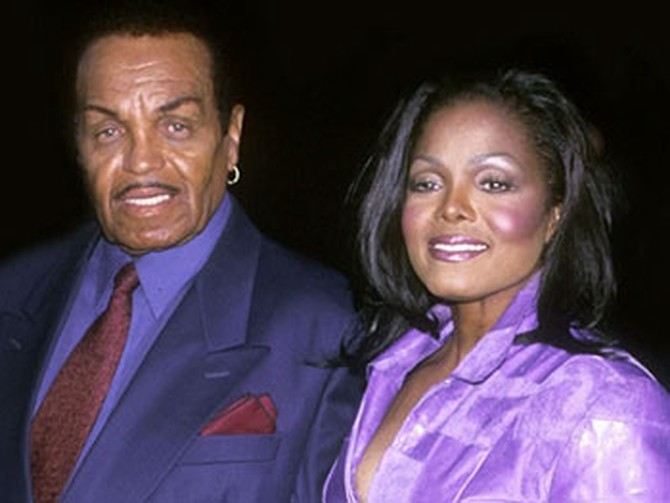 Janet Jackson and her father, Joe