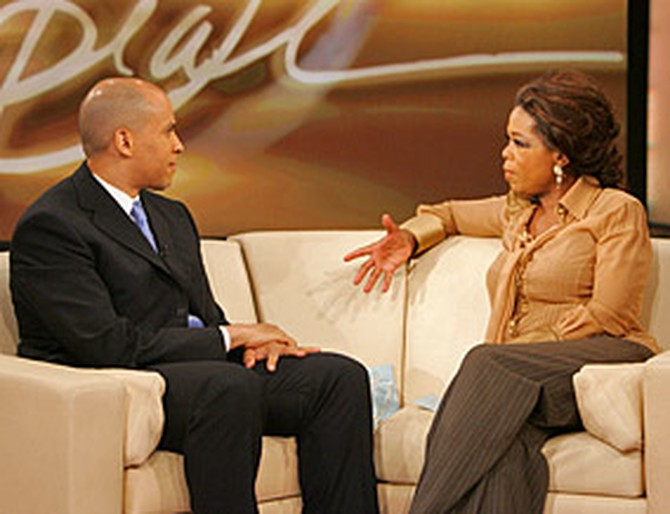 Mayor Booker and Oprah