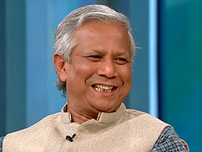 Dr. Muhammad Yunus received a Nobel Peace Prize.