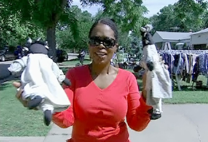 Oprah and her yard sale purchases