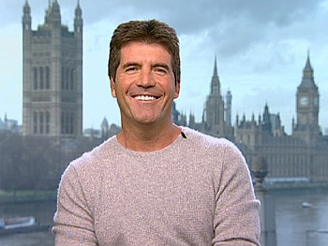 Simon Cowell live via satellite from London