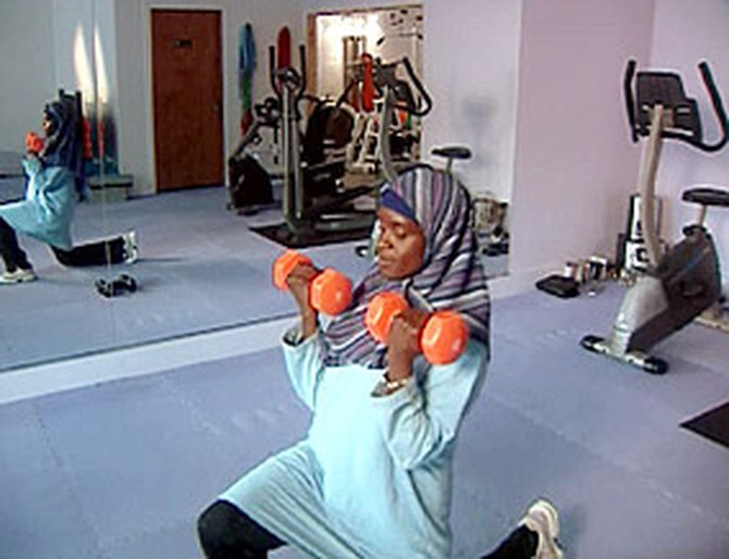 Mubarakah talks about being a personal trainer.
