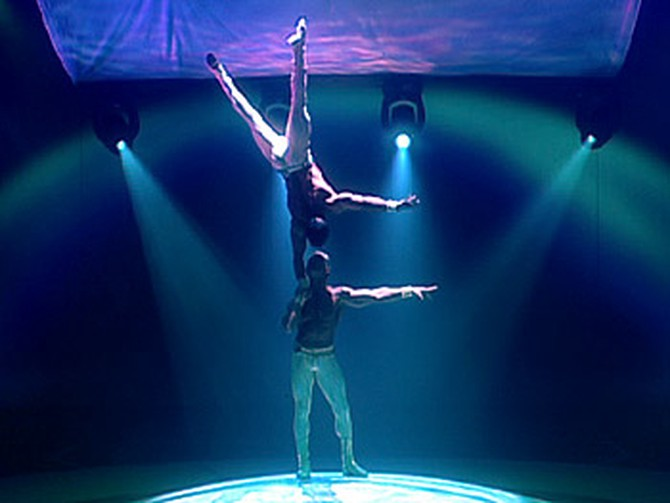 Cirque du Soleil's 'Mystère' performers Marco and Paolo Lorador