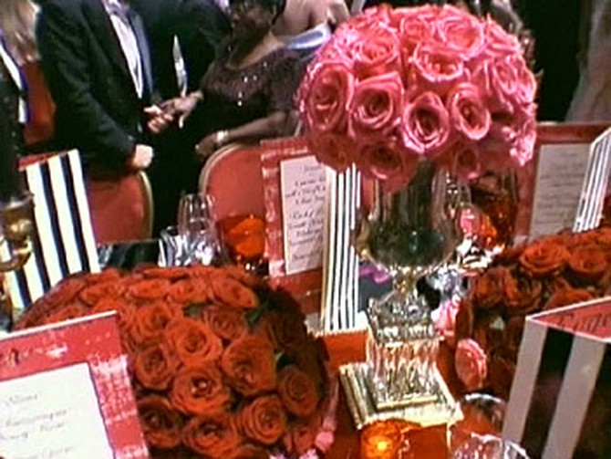 Colin's exquisite centerpieces took center stage.
