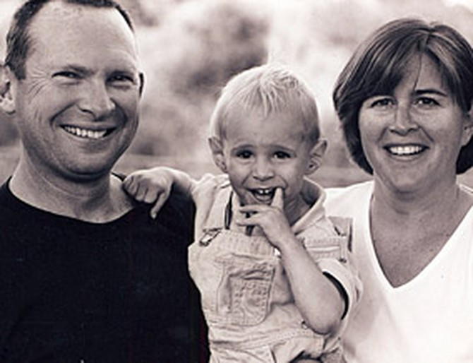 Laurie Johnson with her husband Clyde and son Macallan