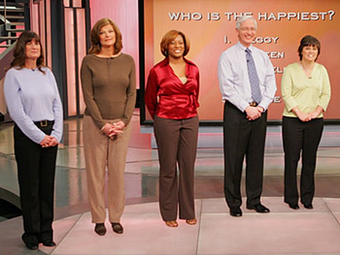 Who is the happiest—Peggy, Noreen, Lachelle, David or Lorrie?