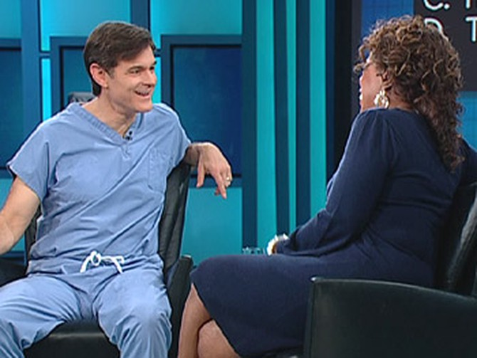 Dr. Oz tells Oprah the dangers of belly fat.