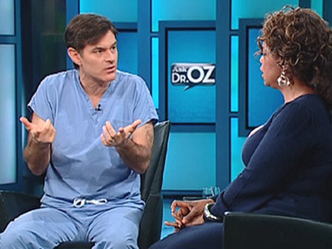 Dr. Oz says to use vinegar on a jellyfish sting.